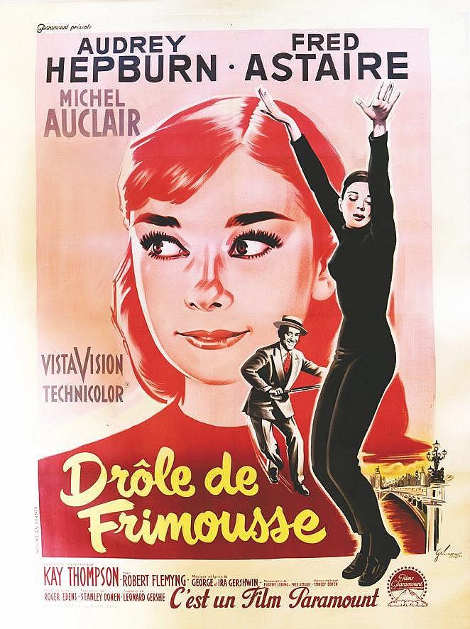 GRINSSON  Drôle de Frimousse - Audrey Hepburn     1957