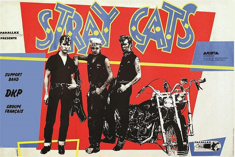 TYLEZ MICHEL  Stray Cats     vers 1980