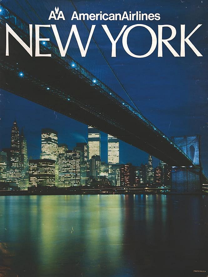 American Airlines New York - Twin Towers     vers 1980