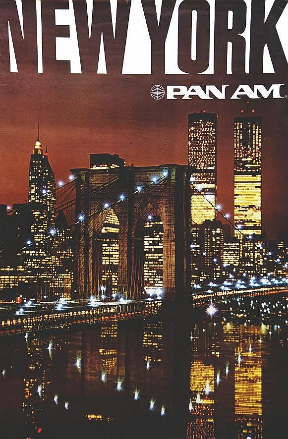 New York Twin Tower Pan Am     vers 1980