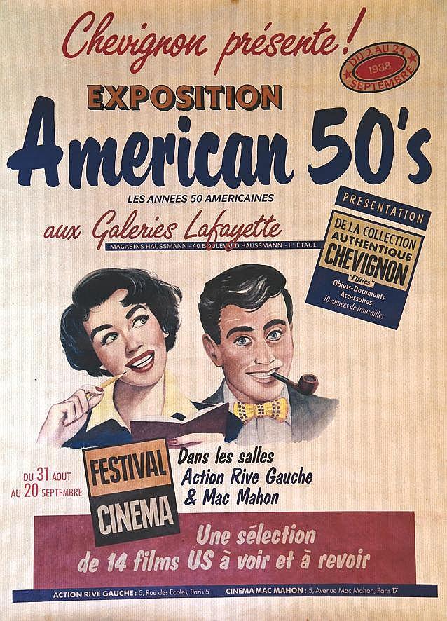 Chevignon - American's 50 aux Galeries Lafayette     1988