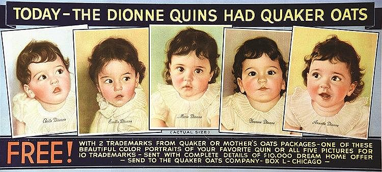 The Dionne Quins had Quaker Oats vers 1950