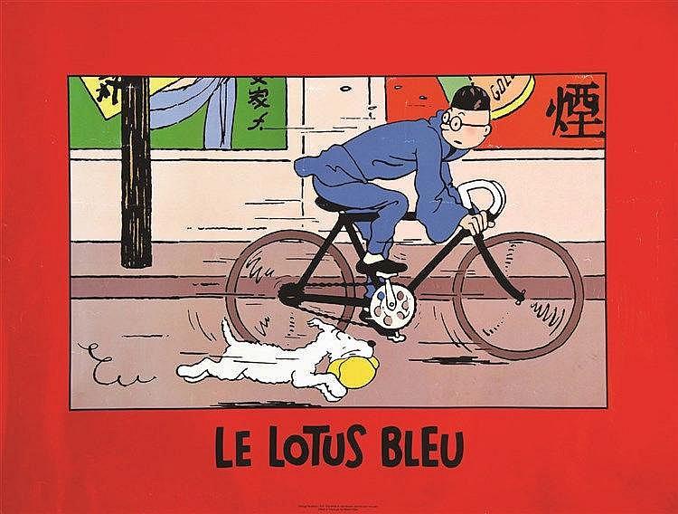 HERGE Le Lotus Bleu vers 1970
