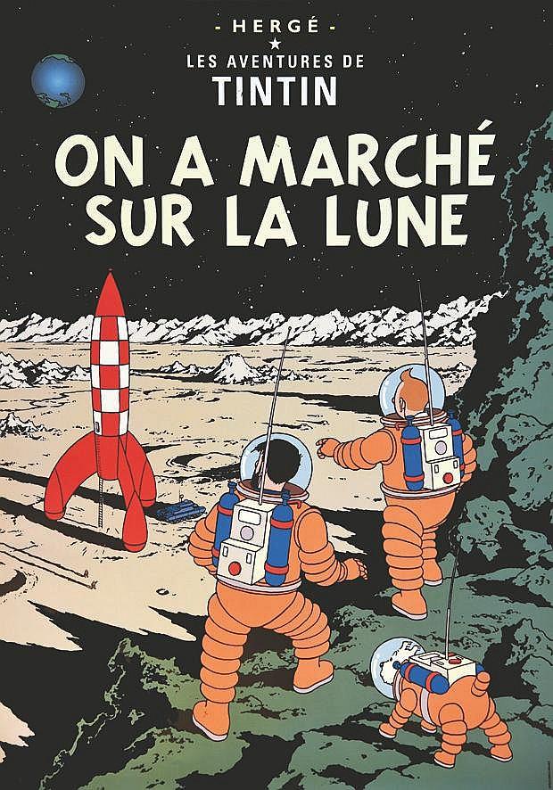 HERGE  Ona Marché sur la Lune     vers 1980