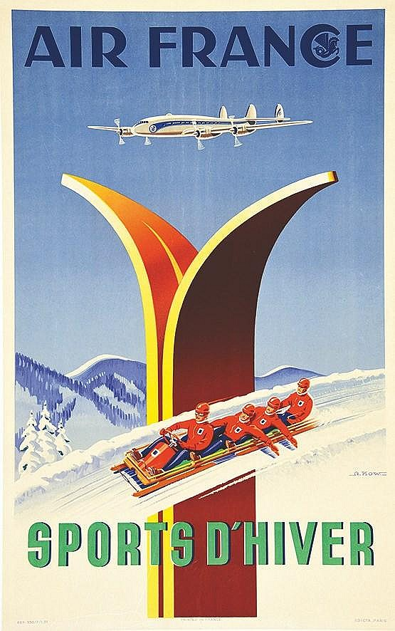 KOW ALEXIS Air France - Sports d'Hiver Bobsleigh 1951