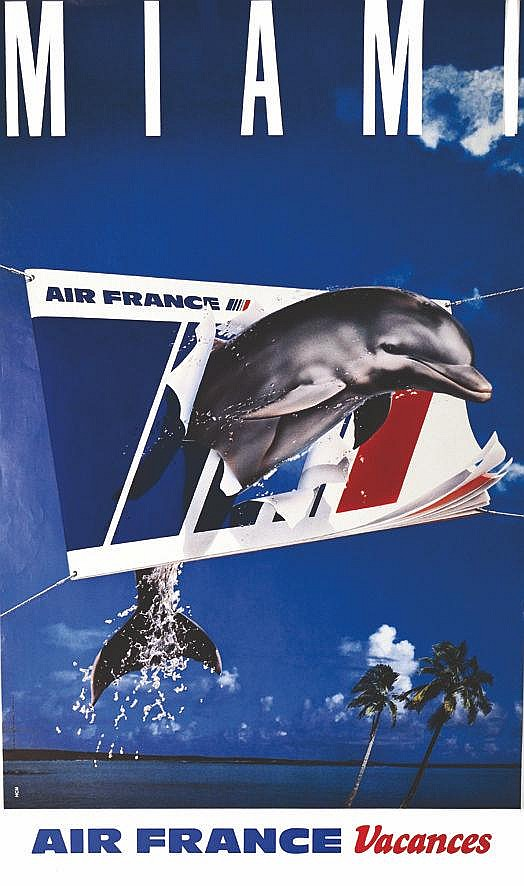 HCM  Miami - Air France     vers 1980