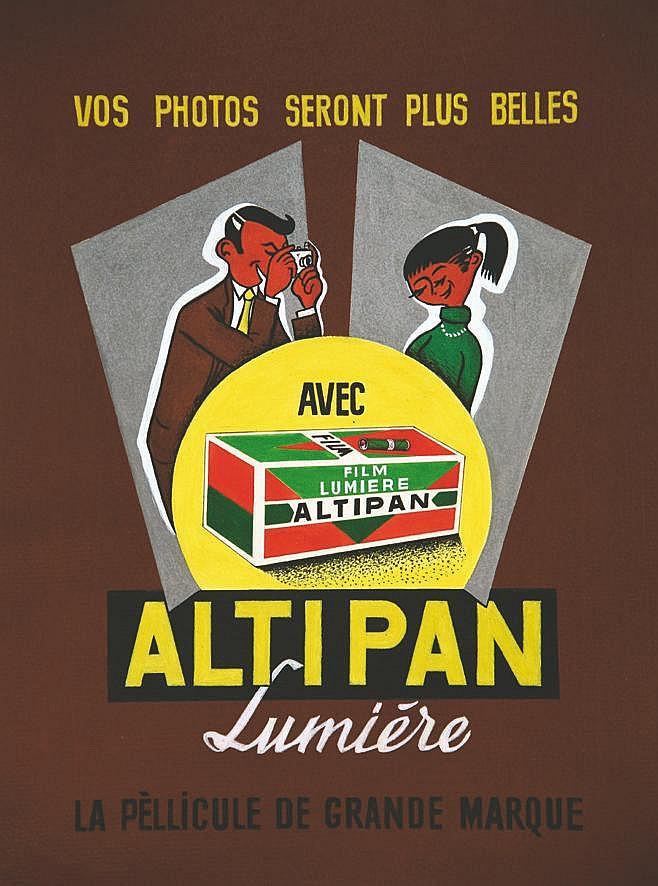 LE COMTE Y. Altipan Lumière - La Péllicule de grande marque vers 1950