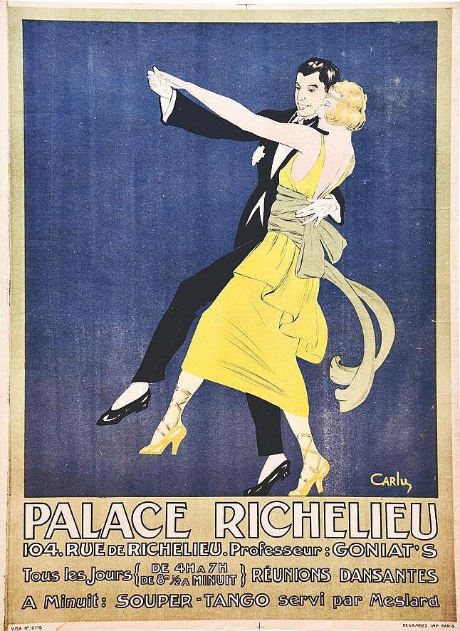 CARLU JEAN Souper Tango Palace Richelieu vers 1930