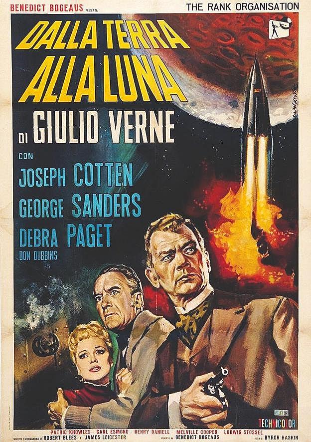 Dalla terra alla luna ( de la Terre à la Lune) de Jules Verne     1964