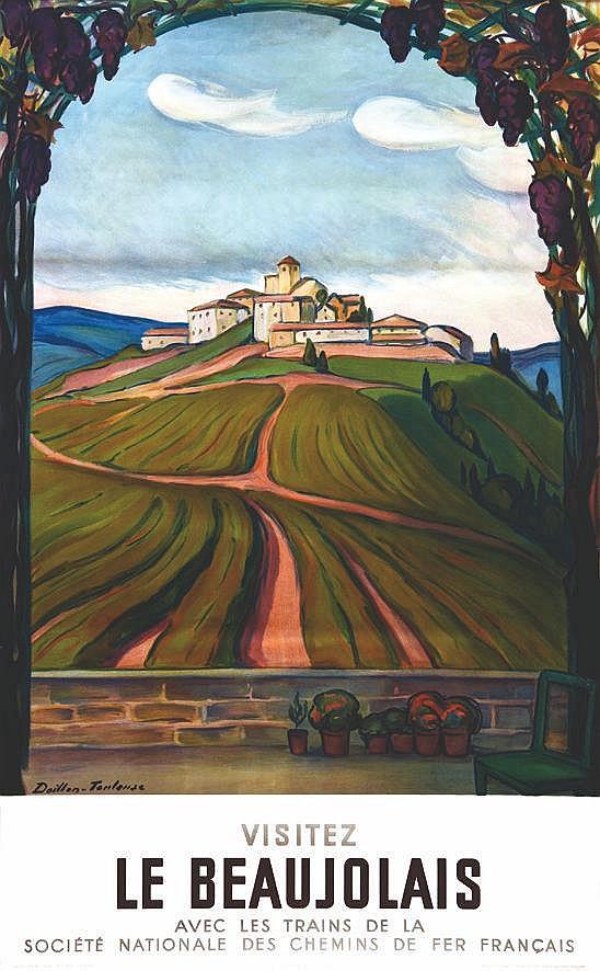 DOILLON TOULOUSE  Le Beaujolais  ( Ternand)     1957