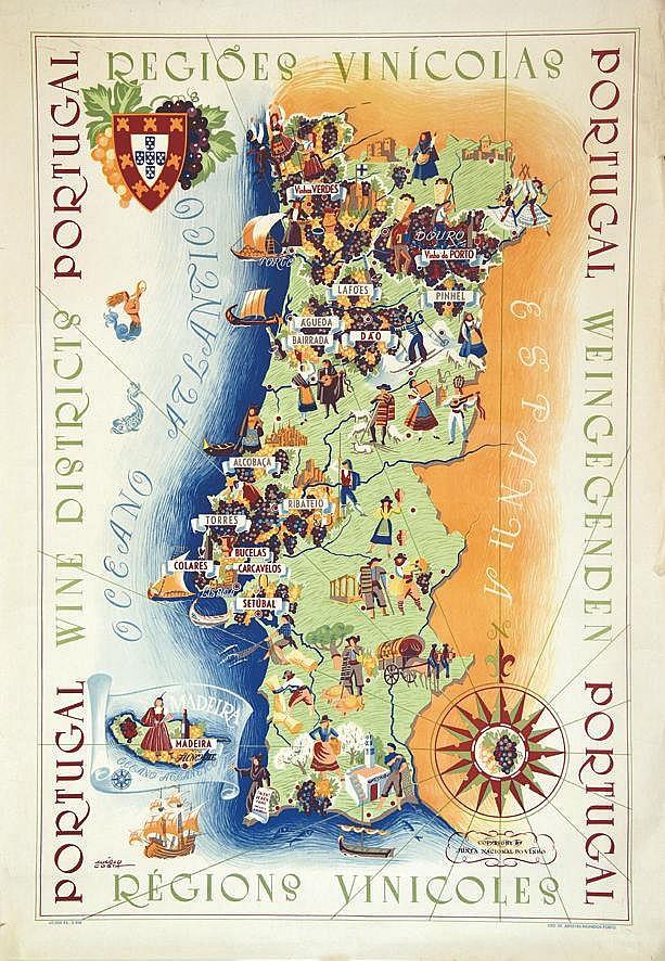 COSTA MARLO  Regiones Viticoles ( Regions Viticoles ) Portugal - Junta Nacional del Vinho     1958
