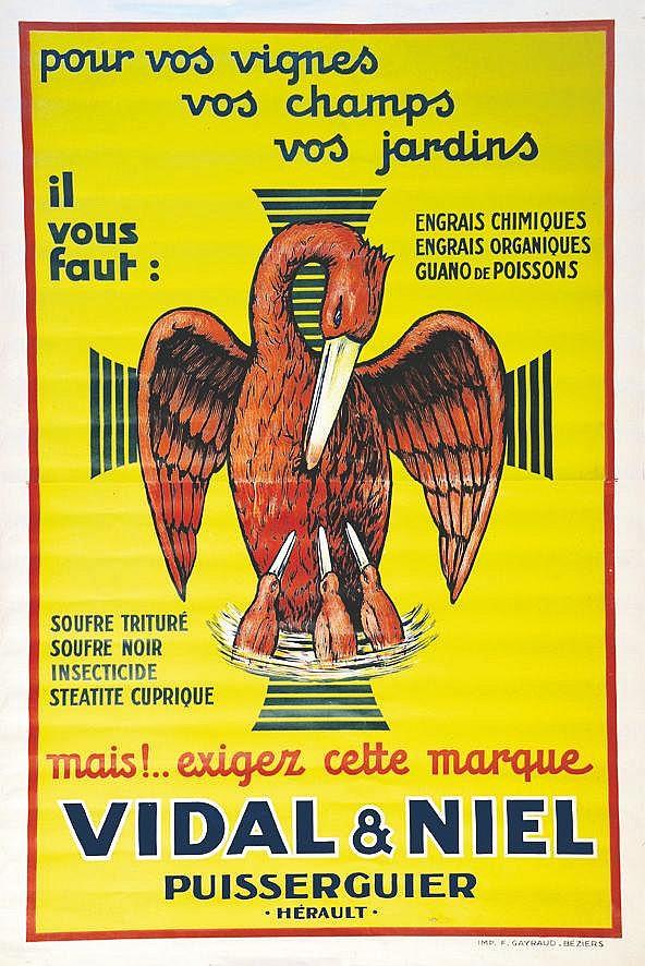 Vidal & Niel :  Pour vos vignes     vers 1920  Puisserguier ( Hérault )