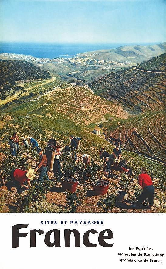 Vignobles du Roussillon Grands du Cru de France     1957