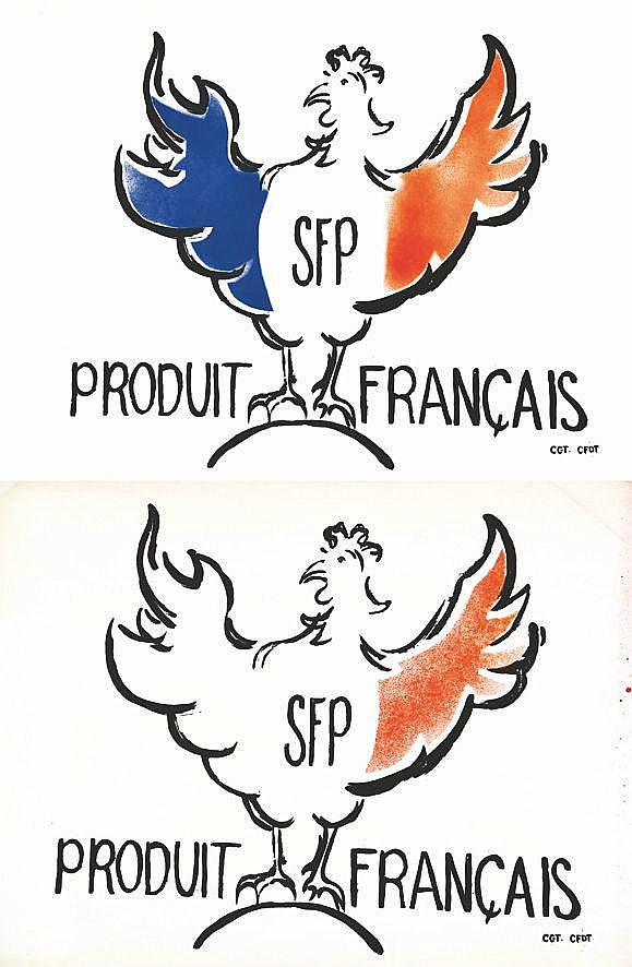Lot de 2 Aff/ Poster : SFP Produit Français vers 1970