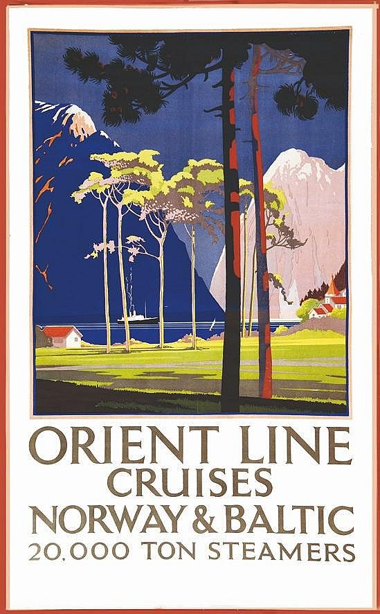BOOTH KALVERT Norway - Orient Line Cruises vers 1930