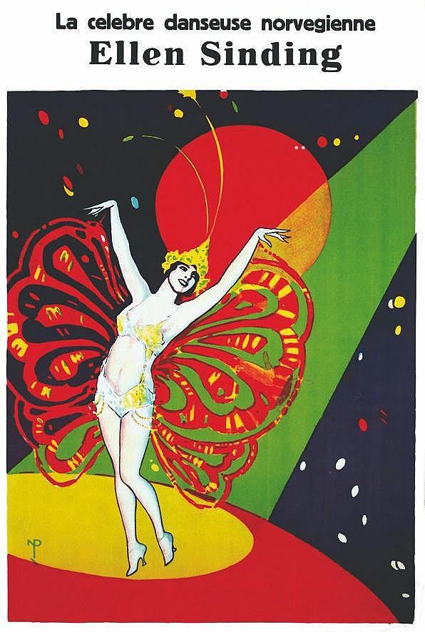 NIELS PEDERSEN ROHDER Ellen Sinding - La Célèbre Danseuse Norvégienne vers 1920