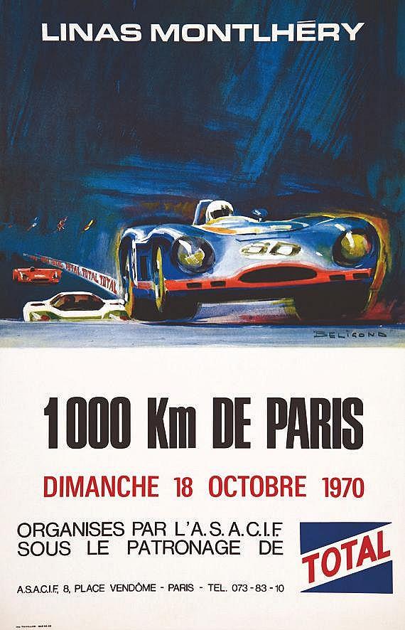 BELIGOND Linas Montlhéry 1000 Km de Paris 1970