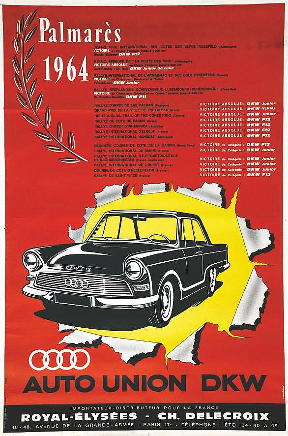 Auto - Union DKV ( Aujourd'hui Audi ) Palmarès 1964 1964