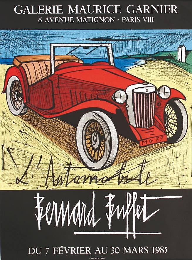 BUFFET BERNARD Bernard Buffet - L'Automobile 1985 Paris