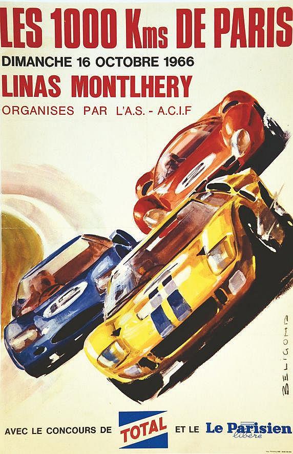 BELIGOND  Linas Montlhéry 1000 Km de Paris     1966