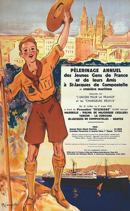 JACQUOT M  Chargeurs Réunis - Pelerinage Annuel St Jacques de Compostel     1933