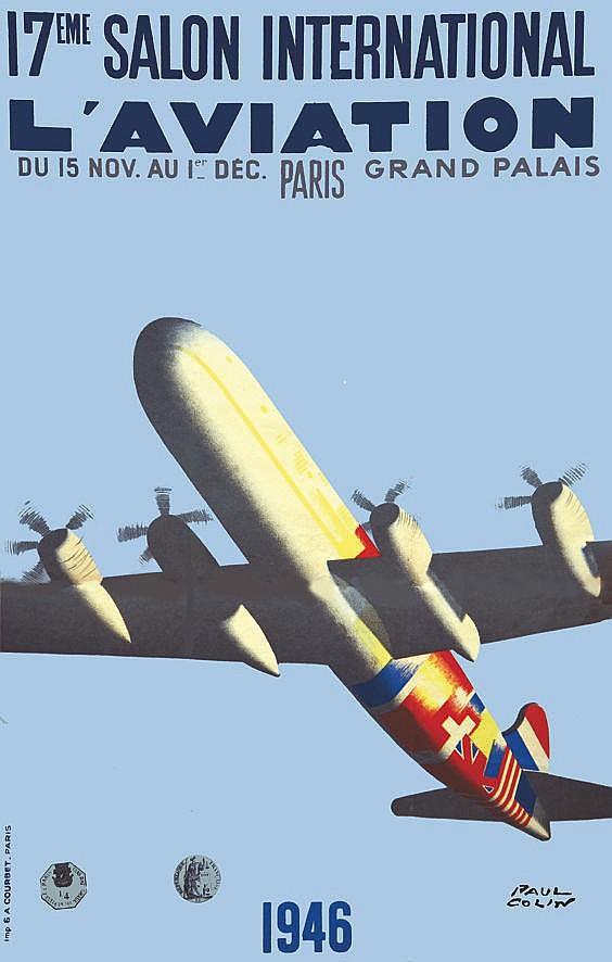 COLIN PAUL  17eme Salon International de l'Aviation 1946     1946
