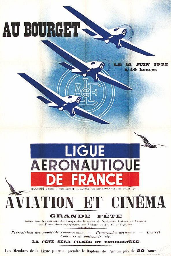 RAVO RENE  Ligue Aéronautique de France - Au Bourget - 1932     1932