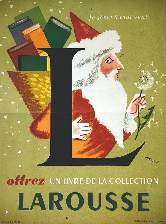 CARLU JEAN Larousse Offrez un livre de collection vers 1950