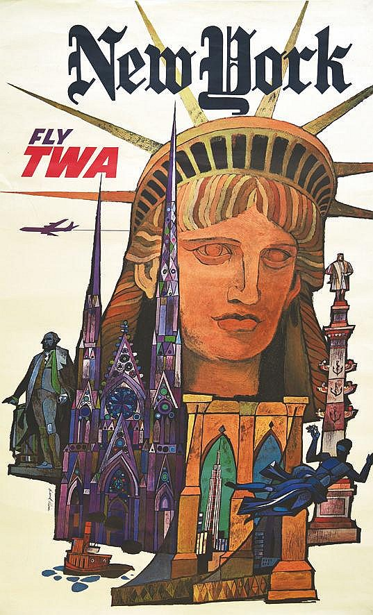 KLEIN DAVID New York Fly TWA 1955