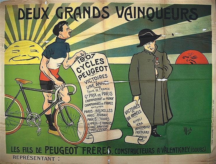 MICH  Peugeot Frères - Deux Grands Vainqueurs     1907  Valentigney (Doubs)