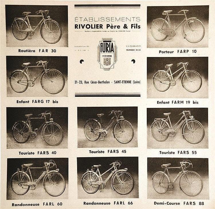 Rivolier Père & Fils - Furia     vers 1900  Saint Etienne (Loire)