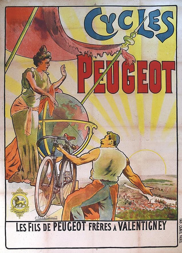 VAVASSEUR  Cycles Peugeot     vers 1900  Valentigney (Doubs)