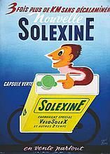 RAVO RENE  Solexine gouache signée René Ravo     vers 1950