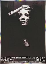 Marlène Dietrich - 45 ème Festival International du Film Cannes     1992
