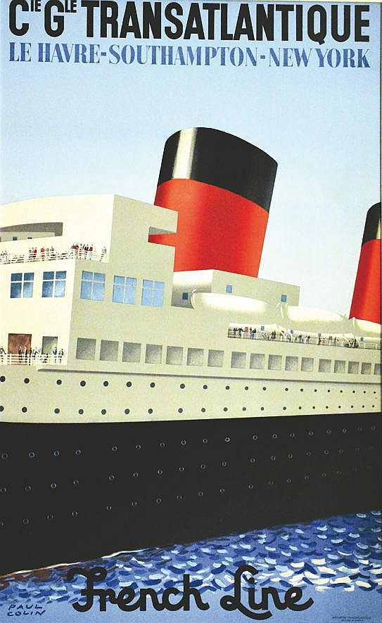 COLIN PAUL Cie Glé Transatlantique vers 1950