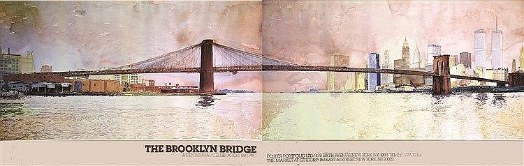 LINGWOOD DAVID The Brooklyn Bridge New York A Centenal Celebration 1883 - 1983 1983