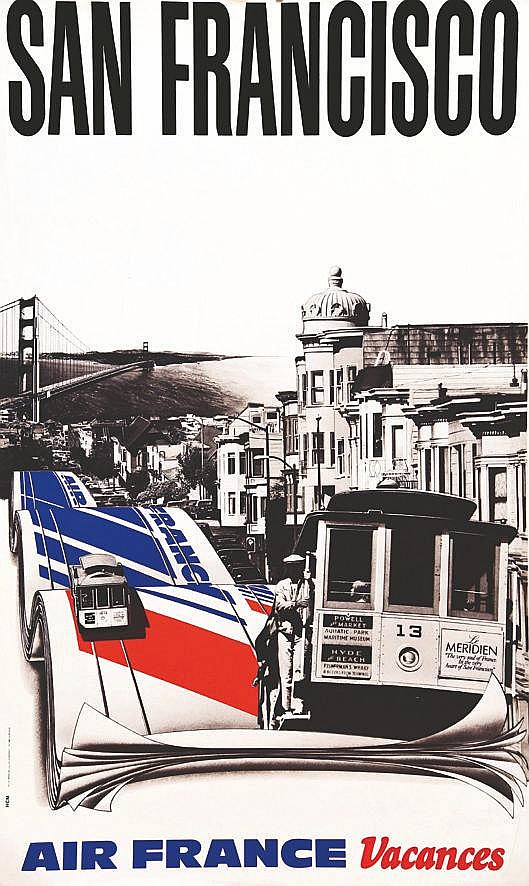 HCM  San Francisco - Air France     Vers 1980