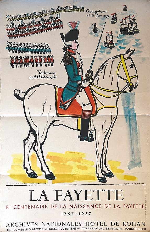 CONSTANTIN  La Fayette Bi-Centenaire de la Naissance 1757 - 1957     1957