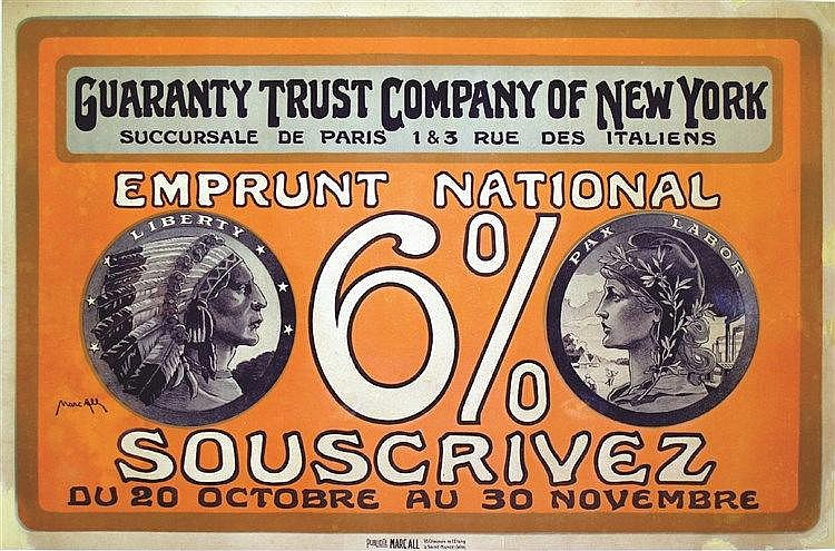 ALL MARC  Guaranty Trust Compagny of New York     vers 1918