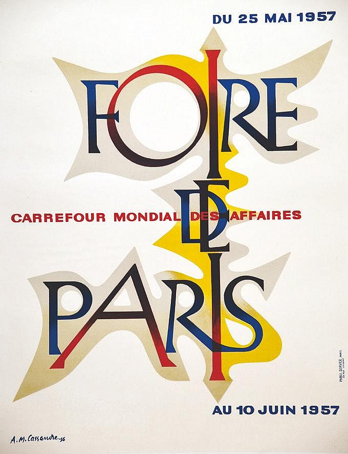 CASSANDRE A.M.  La Foire de Paris 1957     1957