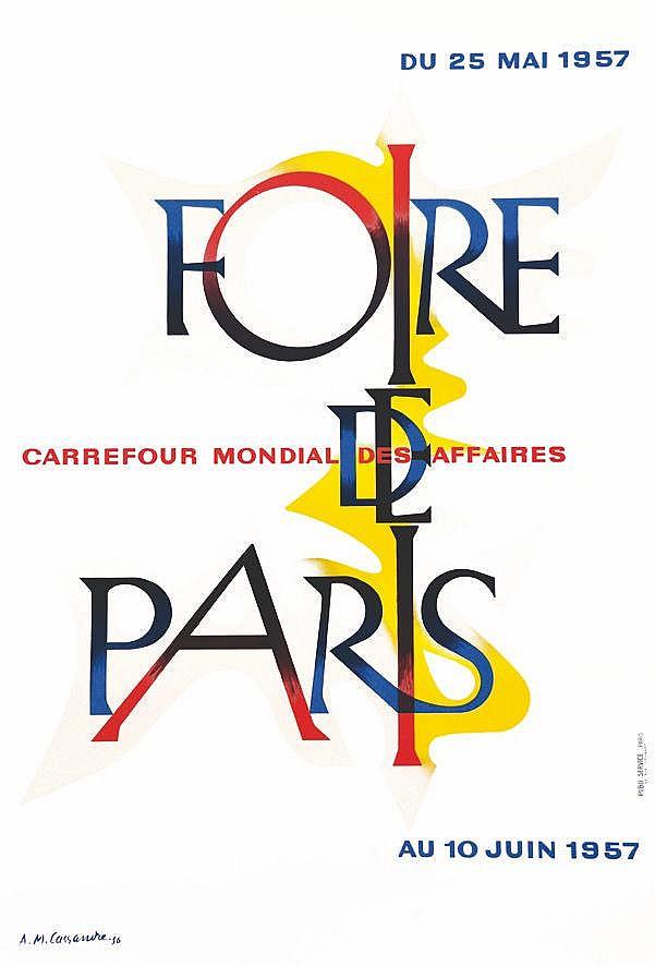 CASSANDRE  Foire de Paris 1957     1957