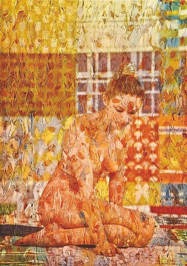BABOUT J. Odalisque Psychédélique vers 1970
