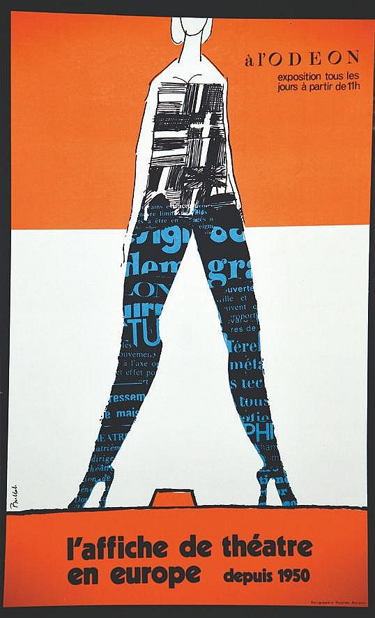 BULLAH  L'Affiche de Théâtre en Europe depuis 1950 à l'Odéon     vers 1970