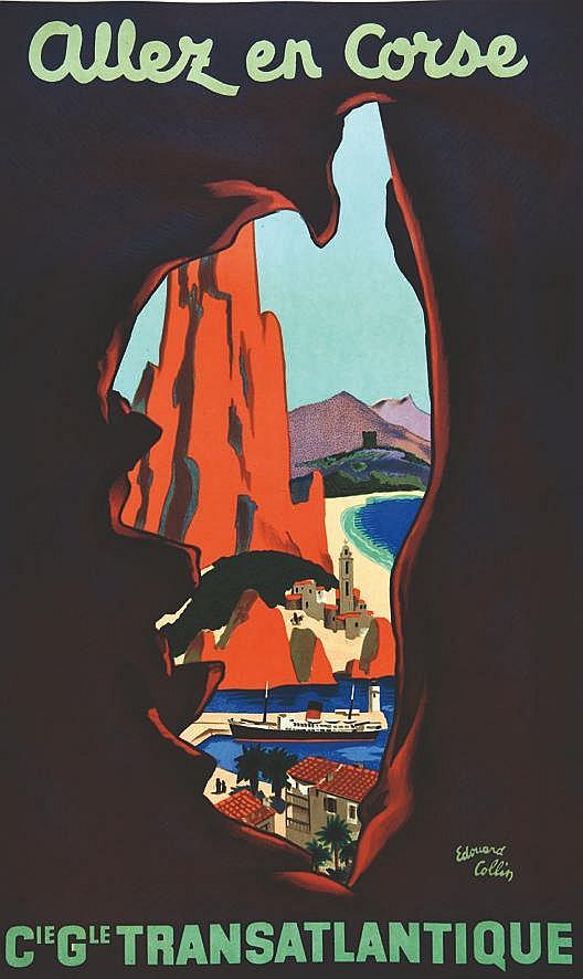 COLLIN EDOUARD Allez en Corse vers 1950