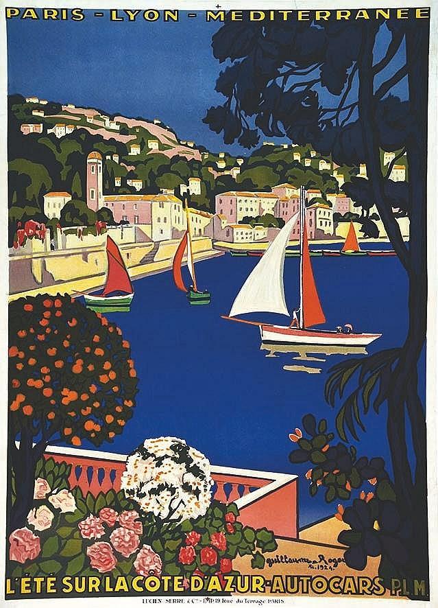 ROGER GUILLAUME  Saint Jean Cap Ferrat - L'Eté sur La Côte D'Azur     1924