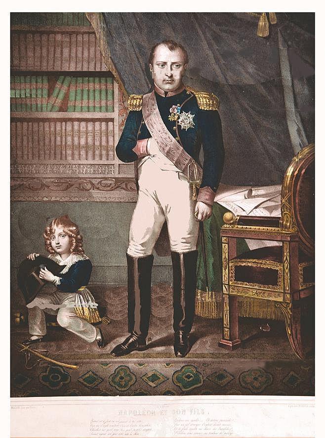 Napoléon et son Fils     vers 1802