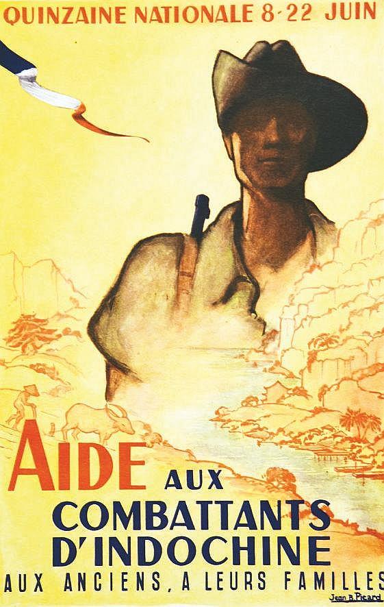 PICARD JEAN B. Aidez nos combattants en Indochine vers 1945