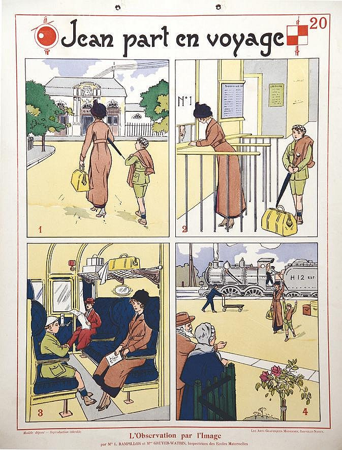 Jean Part en Voyage - L'obersation par l'image vers 1930 Nancy (Meurthe et Moselle)