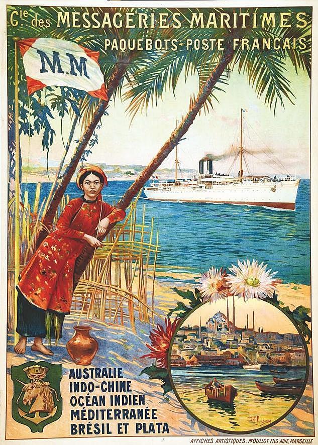 DELLEPIANE Cie des Messageries Maritimes vers 1900