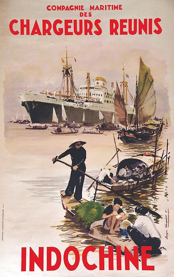 CHAPELLET ROGER Chargeurs Réunis Indochine vers 1950